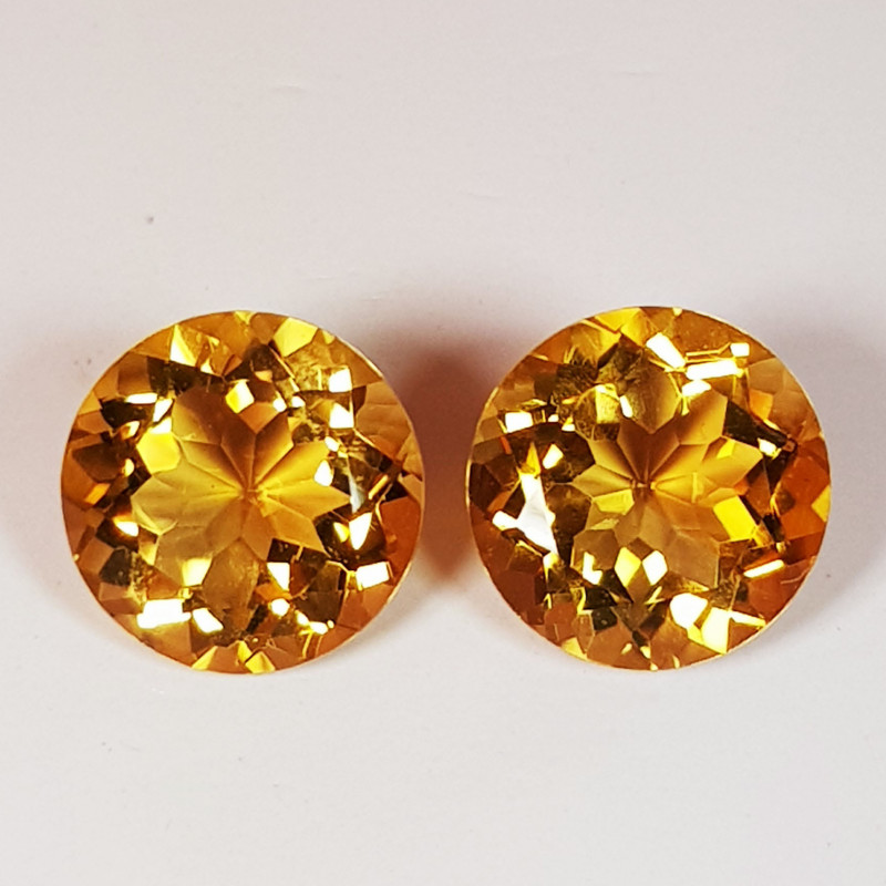 PAIR OF NATURAL CITRINES - BRAZIL - 3.43 Cts - Certificate GFCO Swiss Laboratory - Image 4 of 5