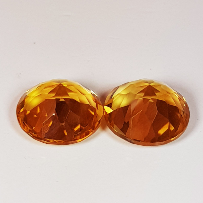 PAIR OF NATURAL CITRINES - BRAZIL - 3.43 Cts - Certificate GFCO Swiss Laboratory - Image 3 of 5