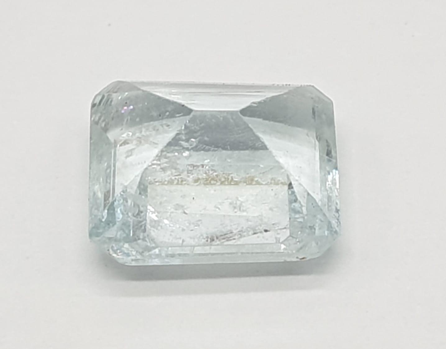 4.49ct Aquamarine gem GJSPC CERTIFIED - Image 2 of 3