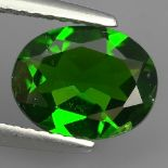 NATURAL CHROME DIOPSIDE - RUSSIA - 1.83 Cts - Certificate GFCO Swiss Laboratory