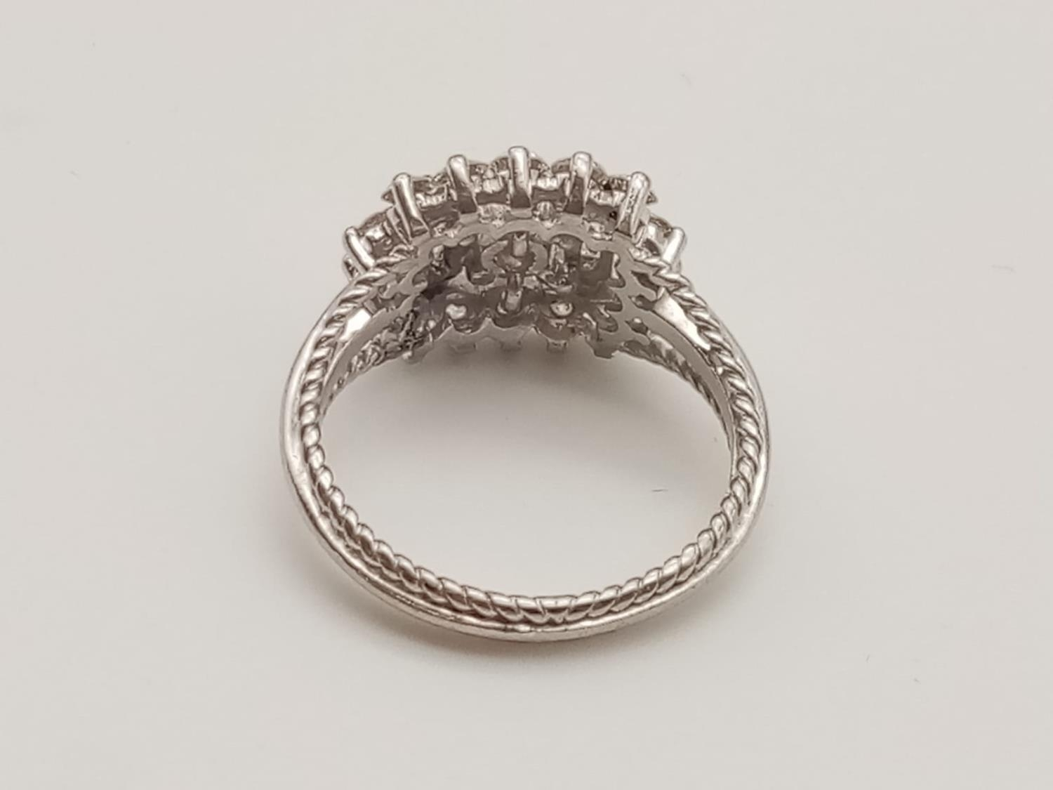 18k white gold diamond ring, WEIGHT 7.6G with over approx 2ct of top quality diamonds, size N1/2 - Image 3 of 6