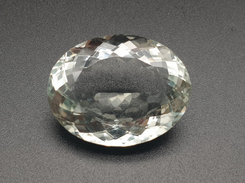45.39 Cts Praseolite Gemstone. Oval shape. ITLGR certified