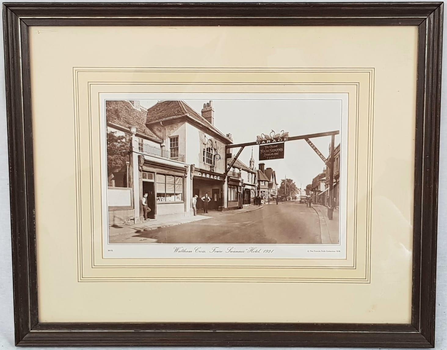 A Print of Waltham Cross, Four Swans Hotel from 1921. From the Francis Frith Collection 1978. 50 x
