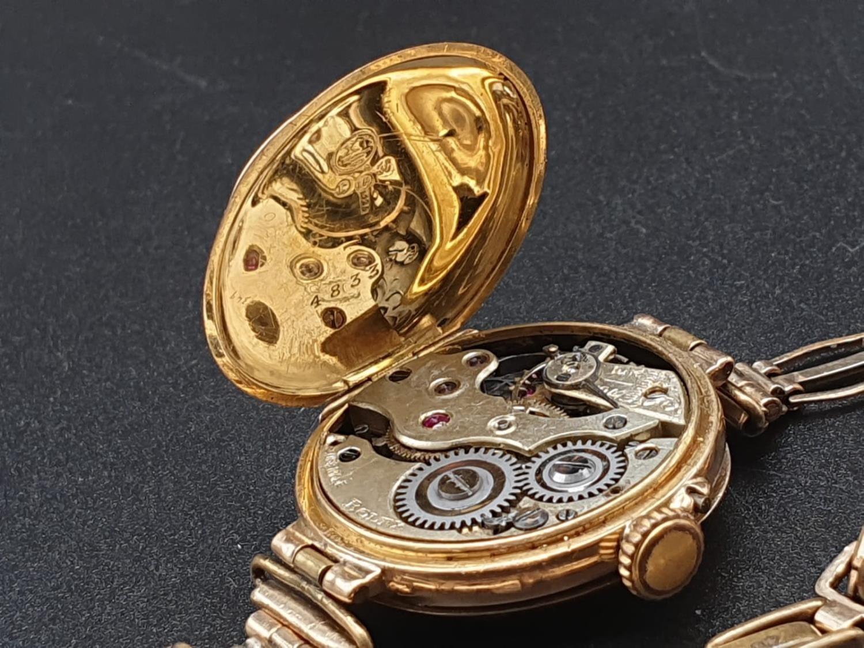 LADIES VINTAGE ROLEX WATCH IN 15K GOLD FWO 26MM - Image 8 of 9