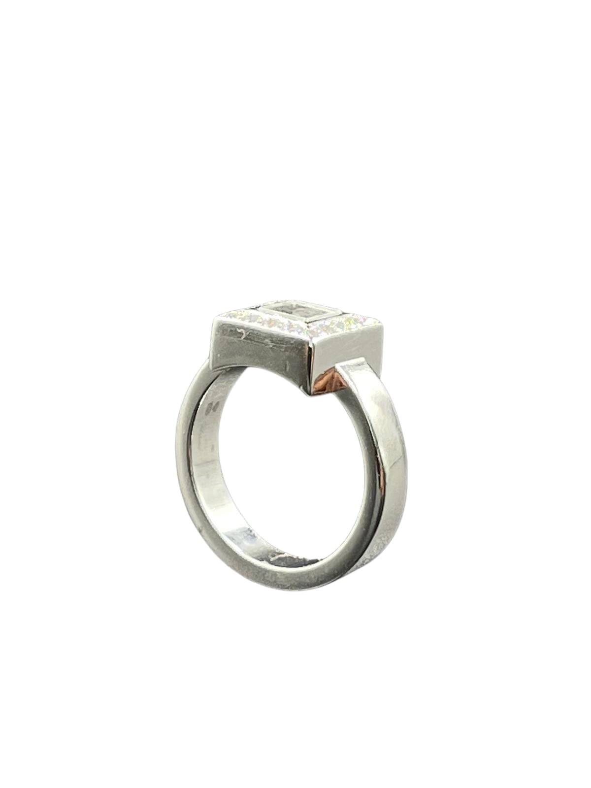 Chopard 18k white gold diamonds set square face ring, weight 11.1g and size L1/2 (RRP £3500) - Image 2 of 3