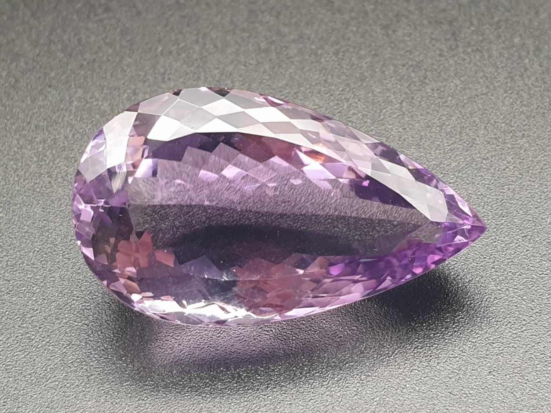 53.27 Cts Amethyst Gemstone. Pear shape. ITLGR certified