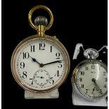 Vintage gilt Goliath pocket watch AF, good balance needs Mainspring