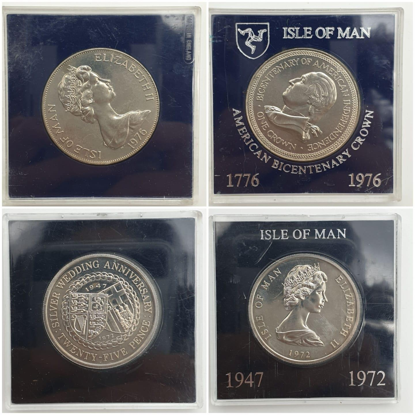 5 Isle of Man Celebratory Crowns. All Silver Plate. - Image 2 of 4