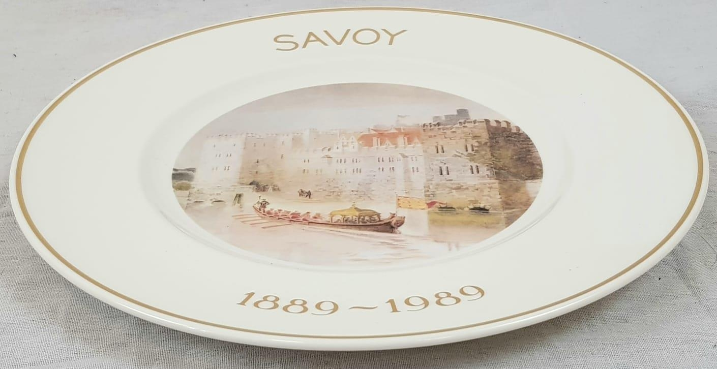 Limited Edition Royal Doulton Savoy Plate. Centenary edition. 1889-1989. 27cm diameter. As New, in - Image 2 of 4