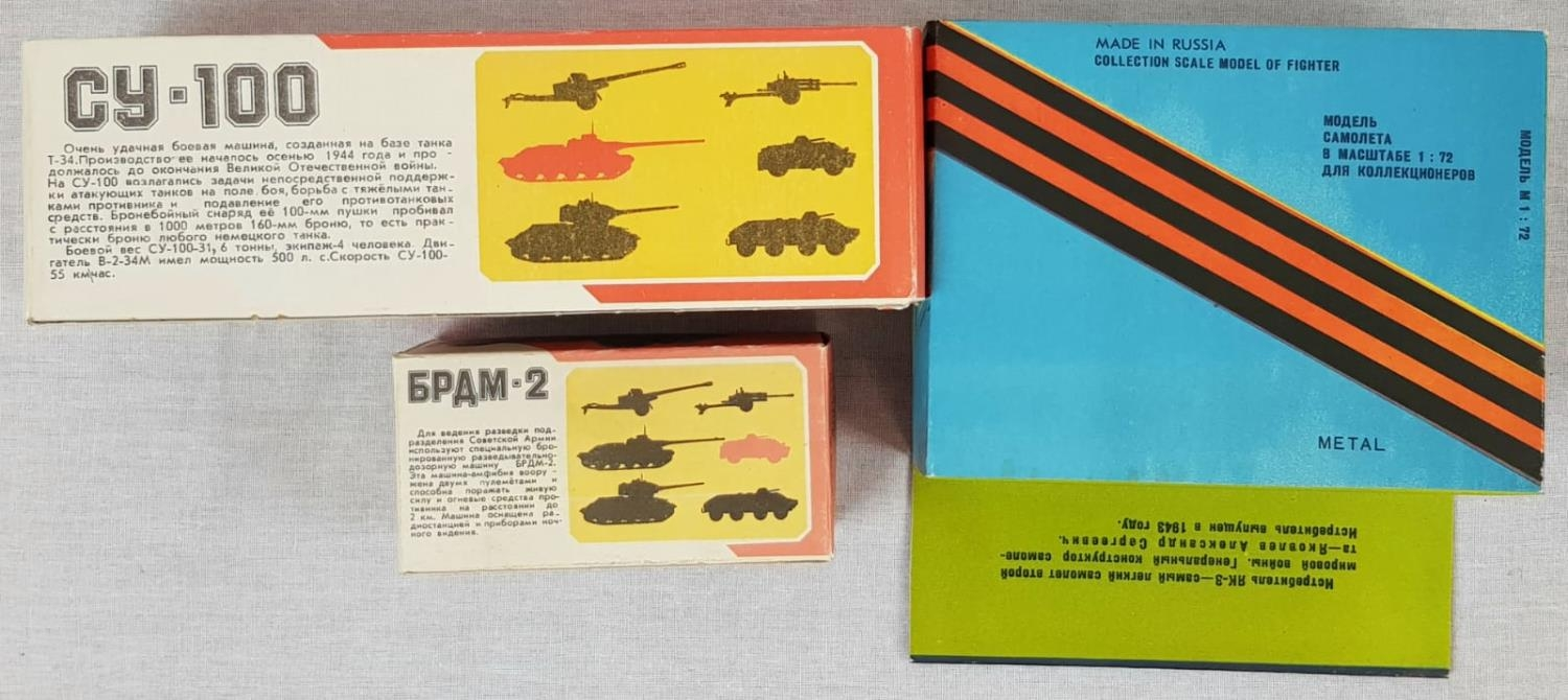 Three Metal Russian Military Model Toys. Made in Russia - Two Tanks and an Aircraft. As New, in - Image 6 of 6