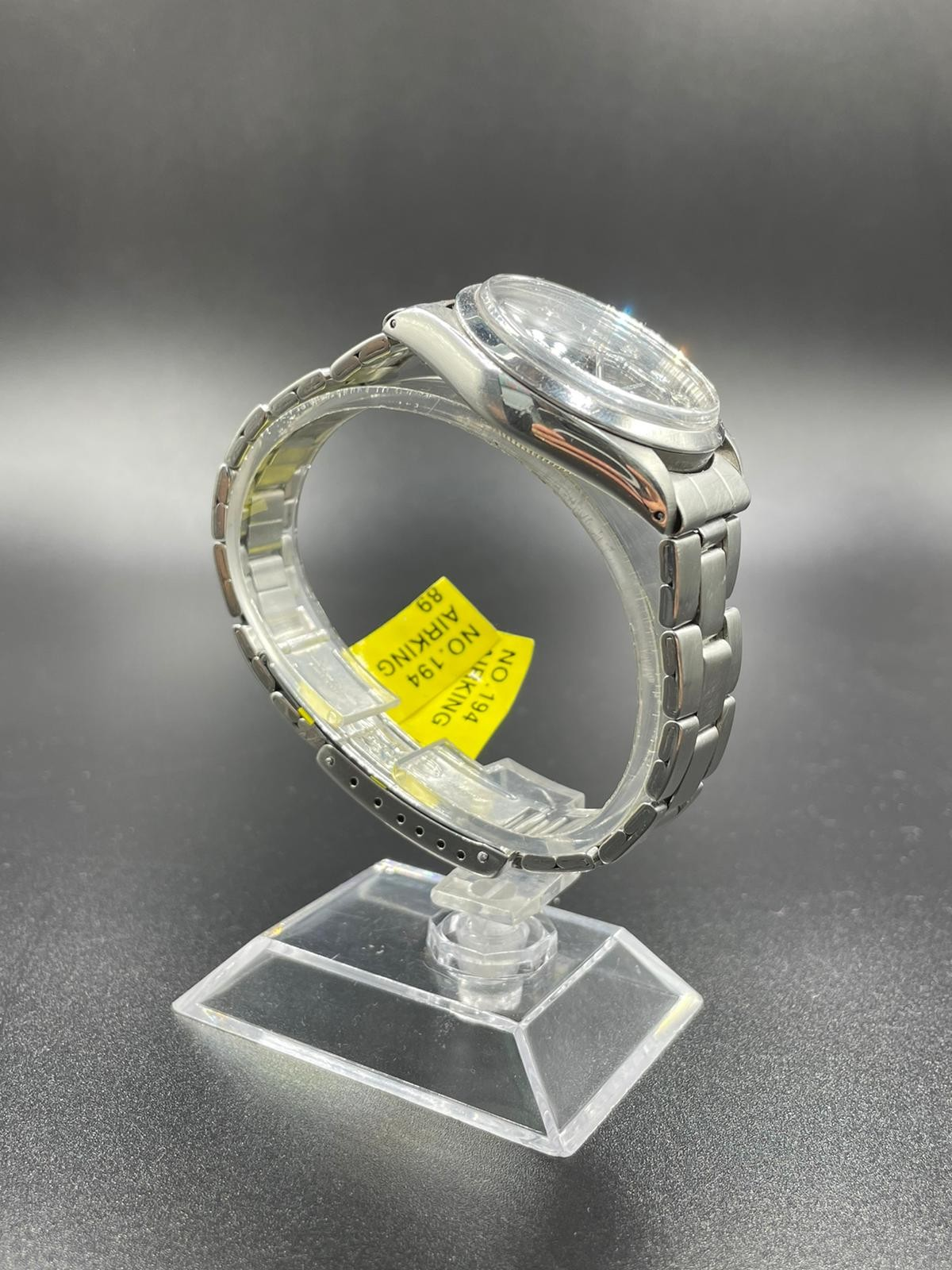 Rolex Air-king Stainless Steel Diamond Dot Dial black face 1998 - Image 2 of 3