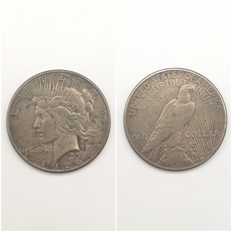 1926 US LIBERTY SILVER DOLLAR