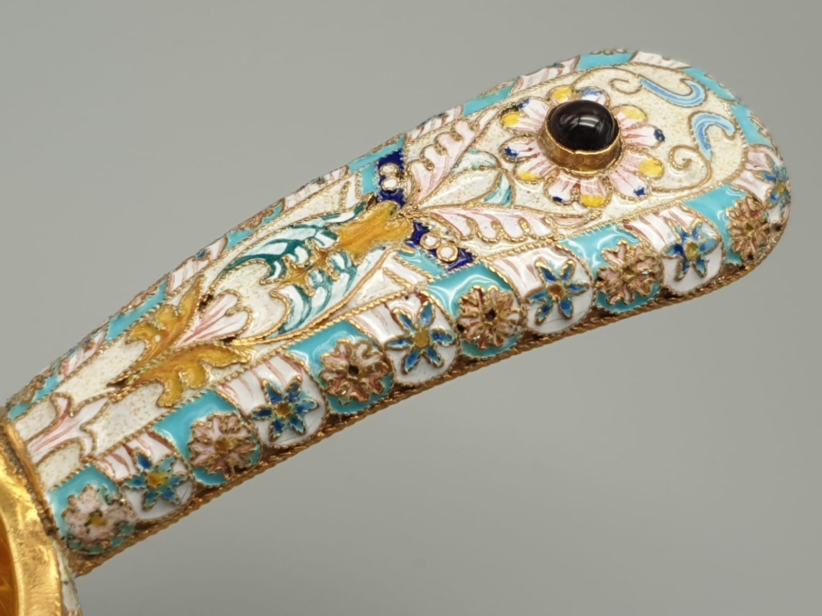 Pair of Russian 20th century silver enamel gemset kavosch bowl in the form of birds, an exquisite - Image 15 of 29