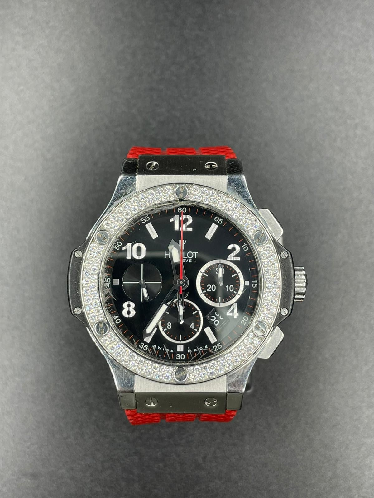 Hublot Big Bang chronometer watch with black face and original diamond dial - Image 2 of 5