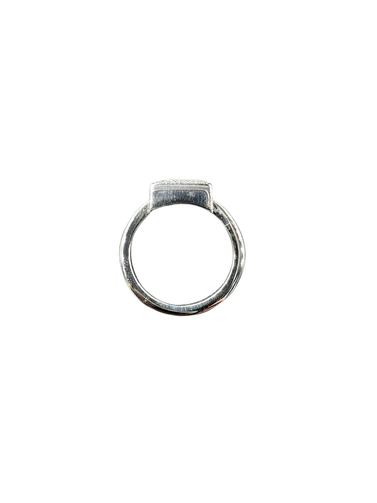 Chopard 18k white gold diamonds set square face ring, weight 11.1g and size L1/2 (RRP £3500) - Image 3 of 3