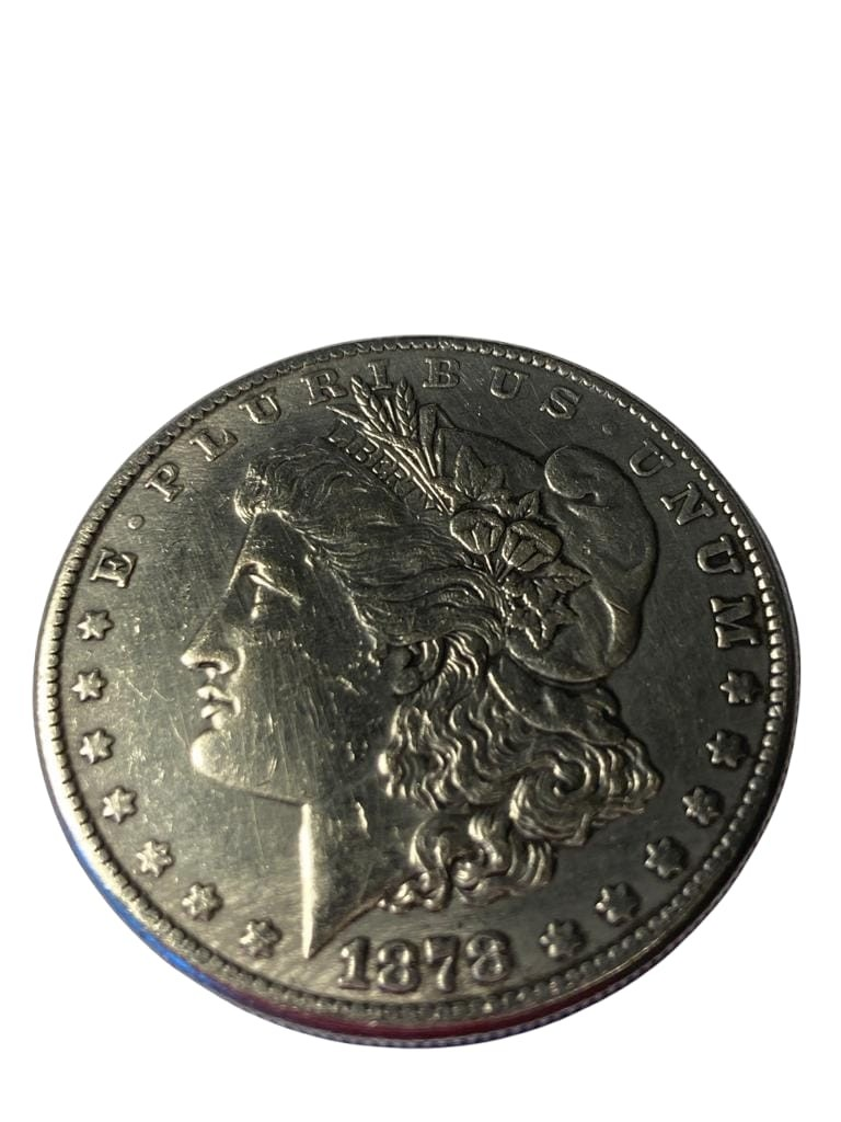 Silver 1878 USA Morgan dollar San Francisco mint.Extra fine condition ,excellent example from the - Image 2 of 2