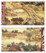 A very desirable Chinese silk and cashmere shawl. 30% silk, 70% cashmere. On one side is a