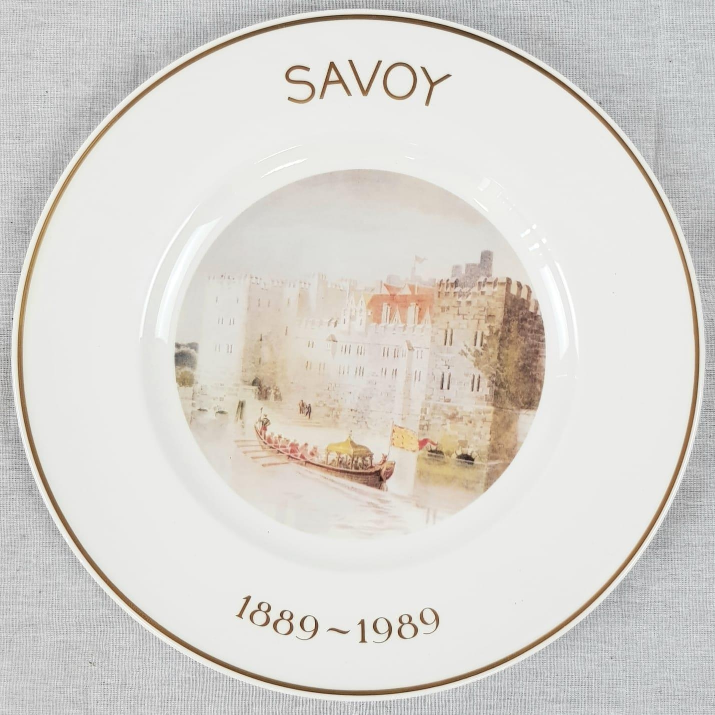 Limited Edition Royal Doulton Savoy Plate. Centenary edition. 1889-1989. 27cm diameter. As New, in