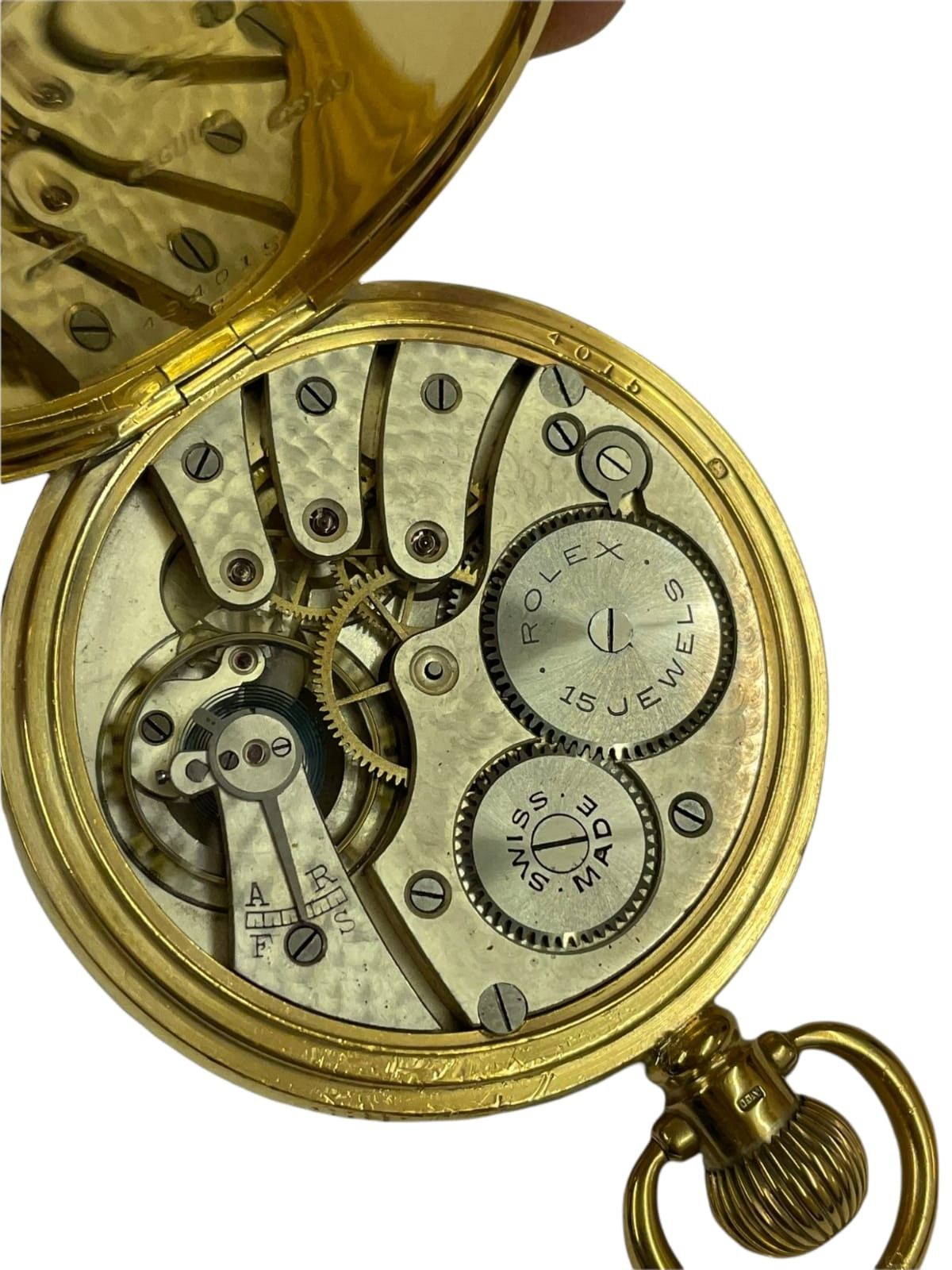Vintage Masonic Rolex pocket watch with stand good condition and good working order but no - Image 7 of 21