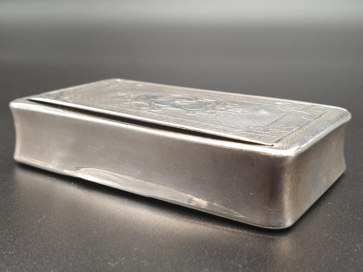 Antique French Gilt Solid Silver 1880s Snuff Box. 7.8cm x 4.5. 54.5g - Image 4 of 9