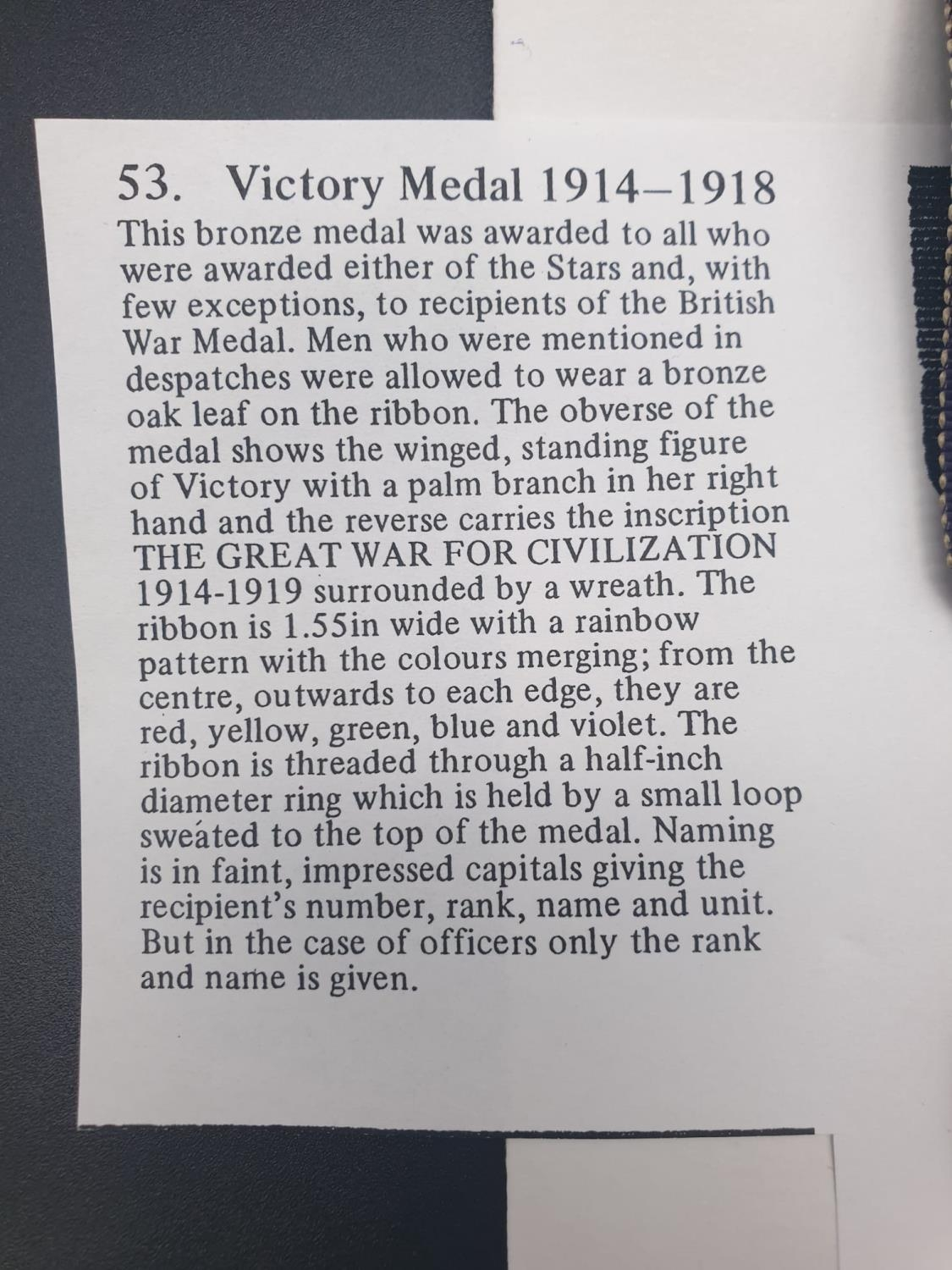 THE GREAT WAR FOR CIVILISATION 1914-18 MEDAL PRESENTED TO DVR J BERRY ROYAL ARTILLERY WITH - Image 4 of 7