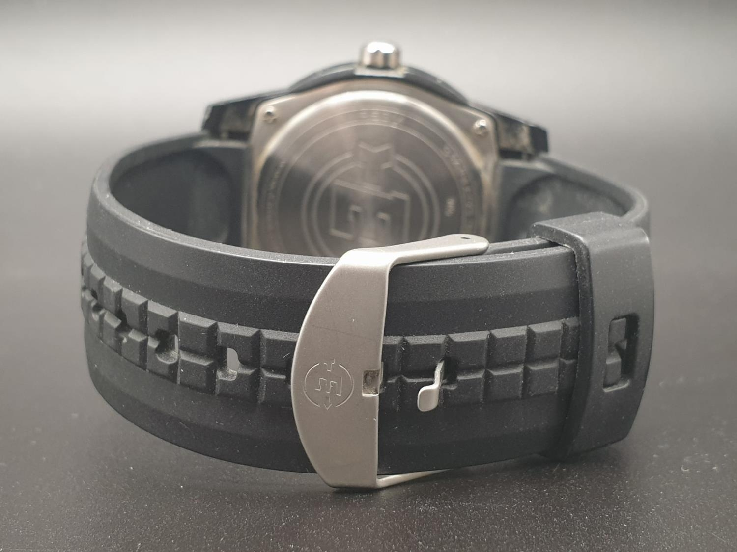 Timex Expedition Watch. Black rubber strap. Black dial. As found. - Image 6 of 9