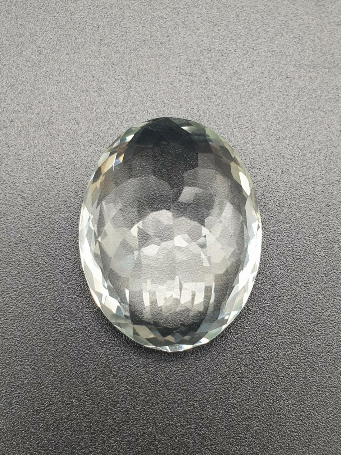 45.39 Cts Praseolite Gemstone. Oval shape. ITLGR certified - Image 3 of 4