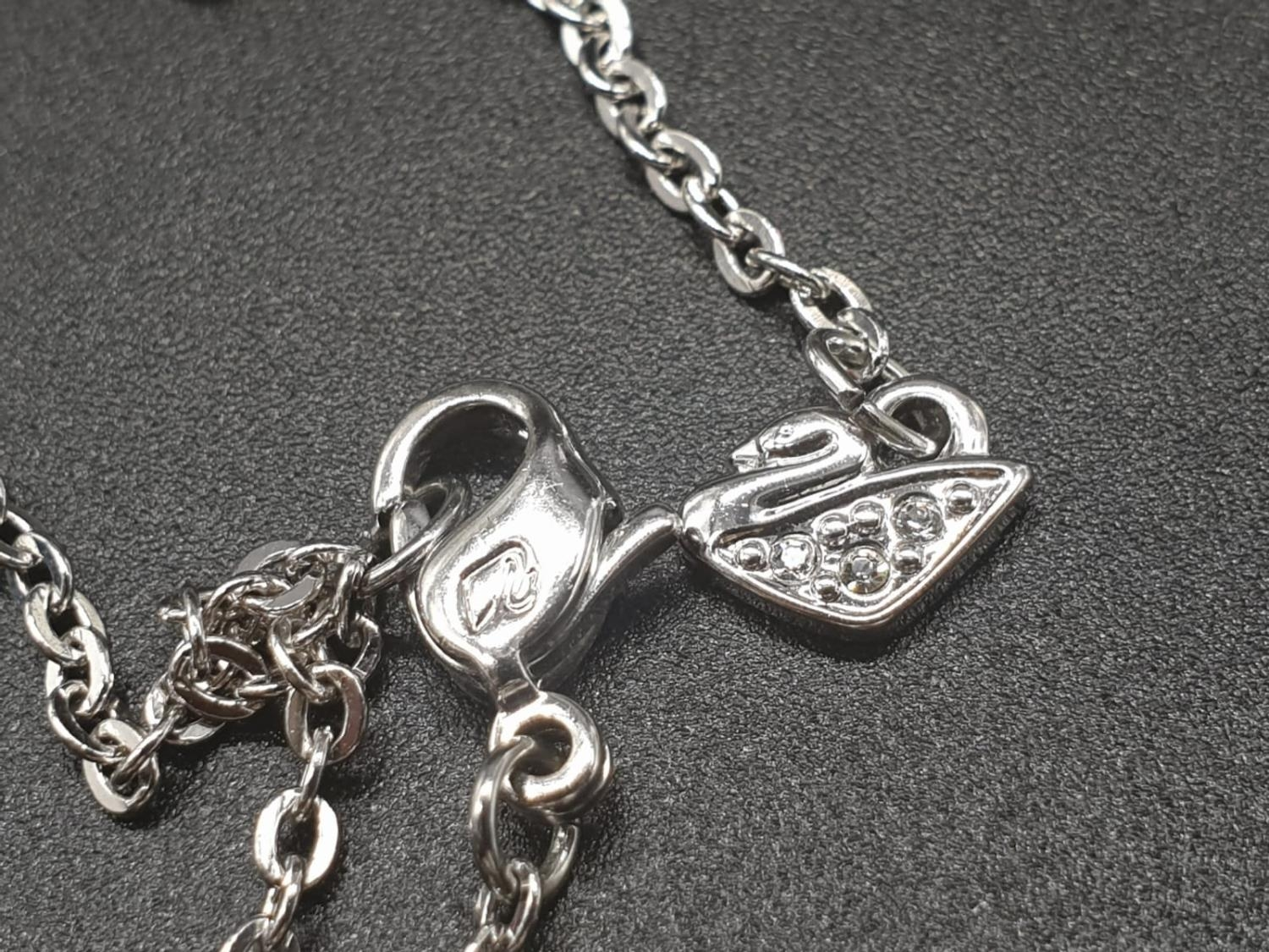 Swarovski Women's Metallic Active Crystal Heart-Shaped Pendant with built-in 8GB USB. 76cm As new, - Image 9 of 10