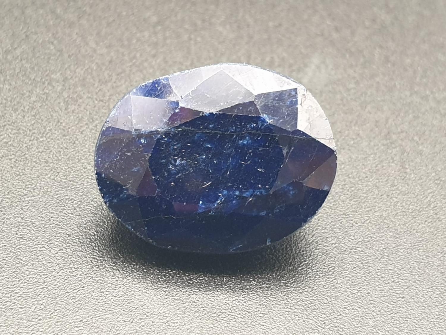 28.44 Cts Natural Sapphire stone Oval cut. IDT certified