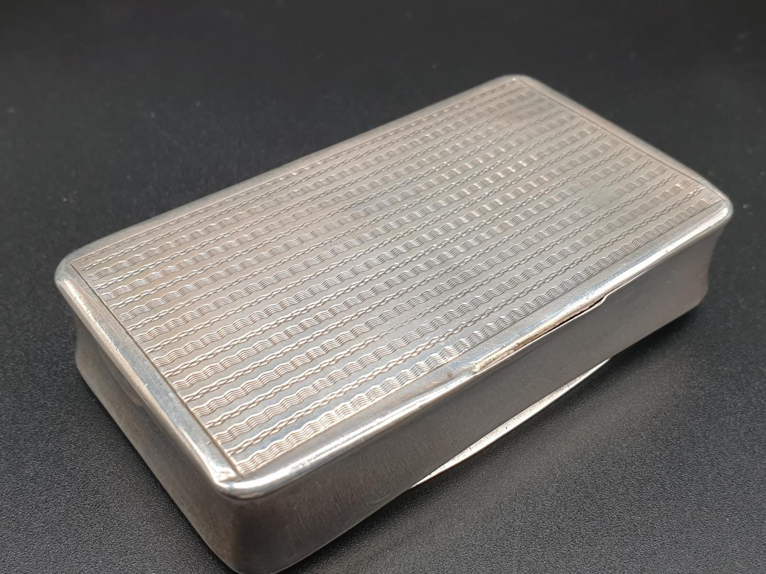 Antique French Gilt Solid Silver 1880s Snuff Box. 7.8cm x 4.5. 54.5g - Image 7 of 9