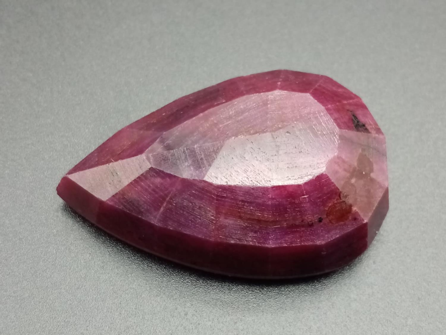A large (180.40 carats!) pear shaped Ruby with Certificate - Image 2 of 3