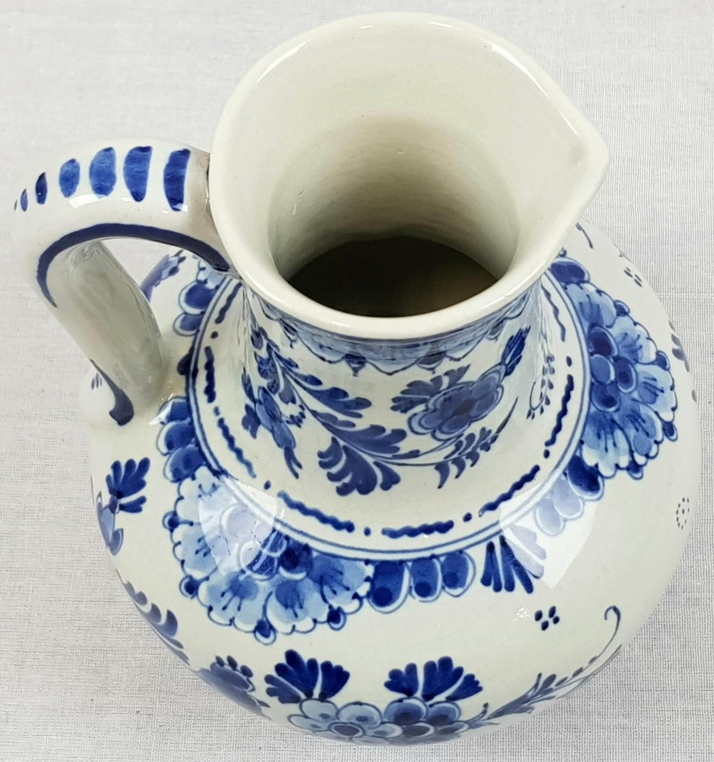 Vintage Delft Blue and White Water Jug. Signed on Base. Good Condition. 18cm tall. - Image 3 of 4