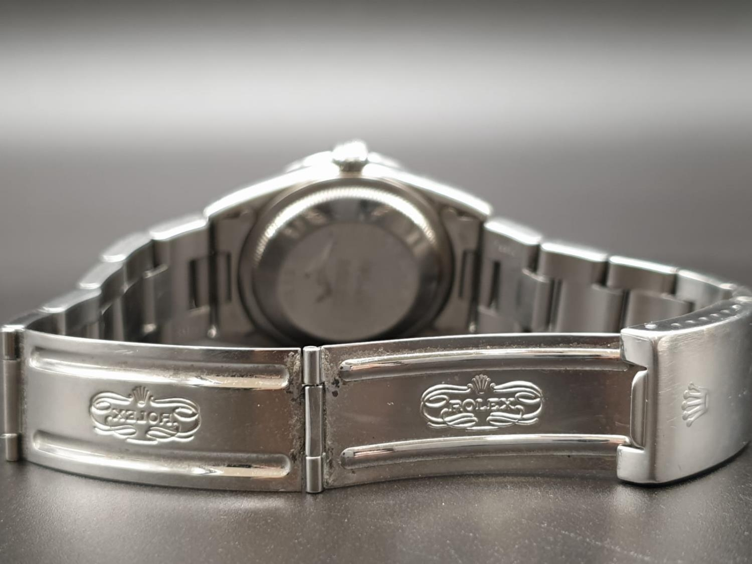 ROLEX OYSTER DATEJUST IN STAINLESS STEEL WITH ATTRACTIVE LIGHT OYSTER FACE, FWO 36MM - Image 7 of 10
