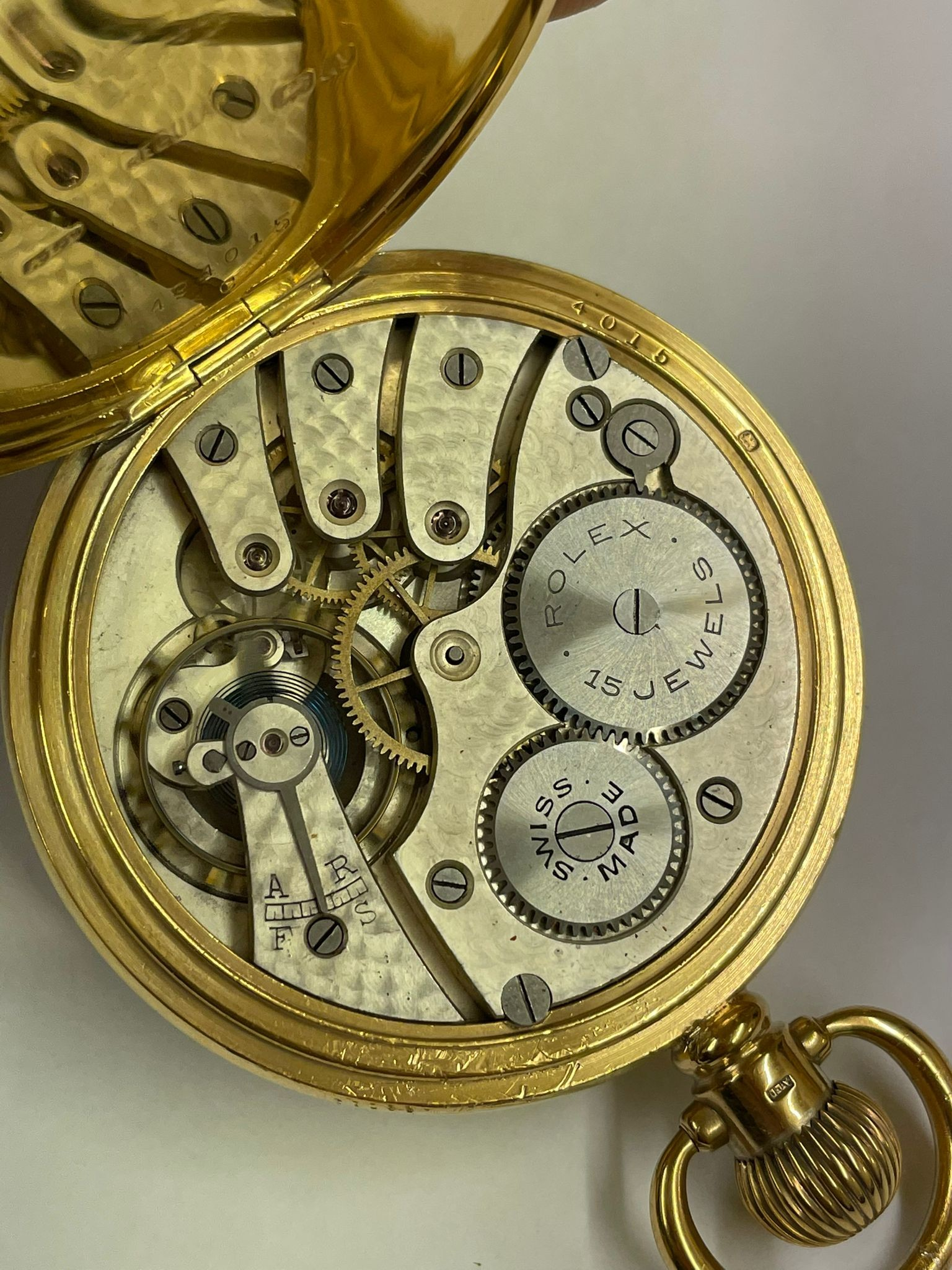 Vintage Masonic Rolex pocket watch with stand good condition and good working order but no - Image 12 of 21