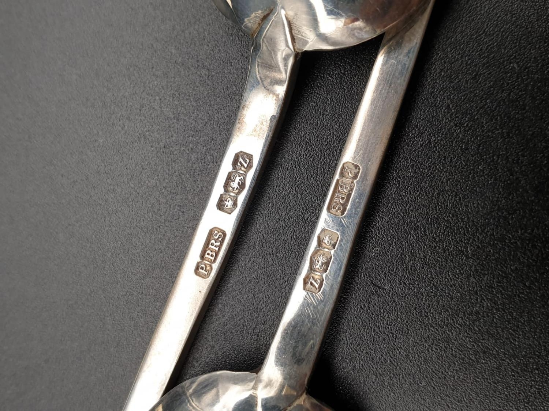 Six Heavy Silver Teaspoons. Pinder Bros - 1942 Hallmark. 82.2 g total weight. 11cm. - Image 4 of 4