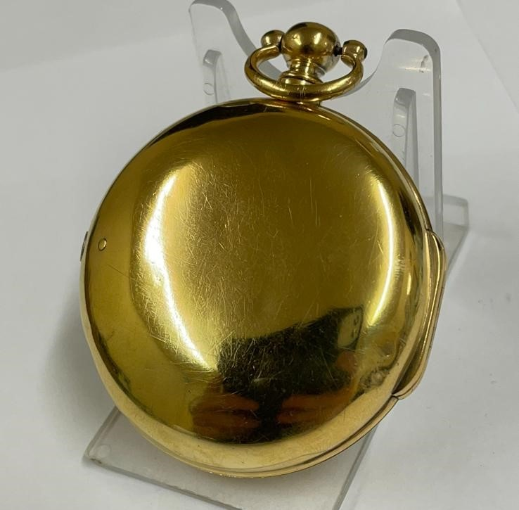 Antique gilt verge fusee pocket watch , working but sold with no garantees 147.8g - Image 12 of 12