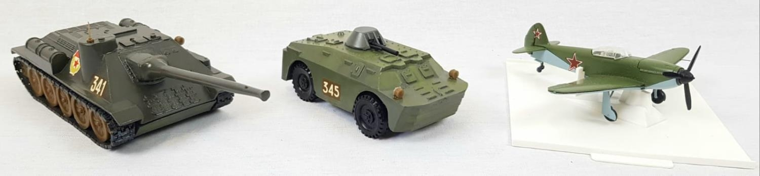 Three Metal Russian Military Model Toys. Made in Russia - Two Tanks and an Aircraft. As New, in - Image 2 of 6