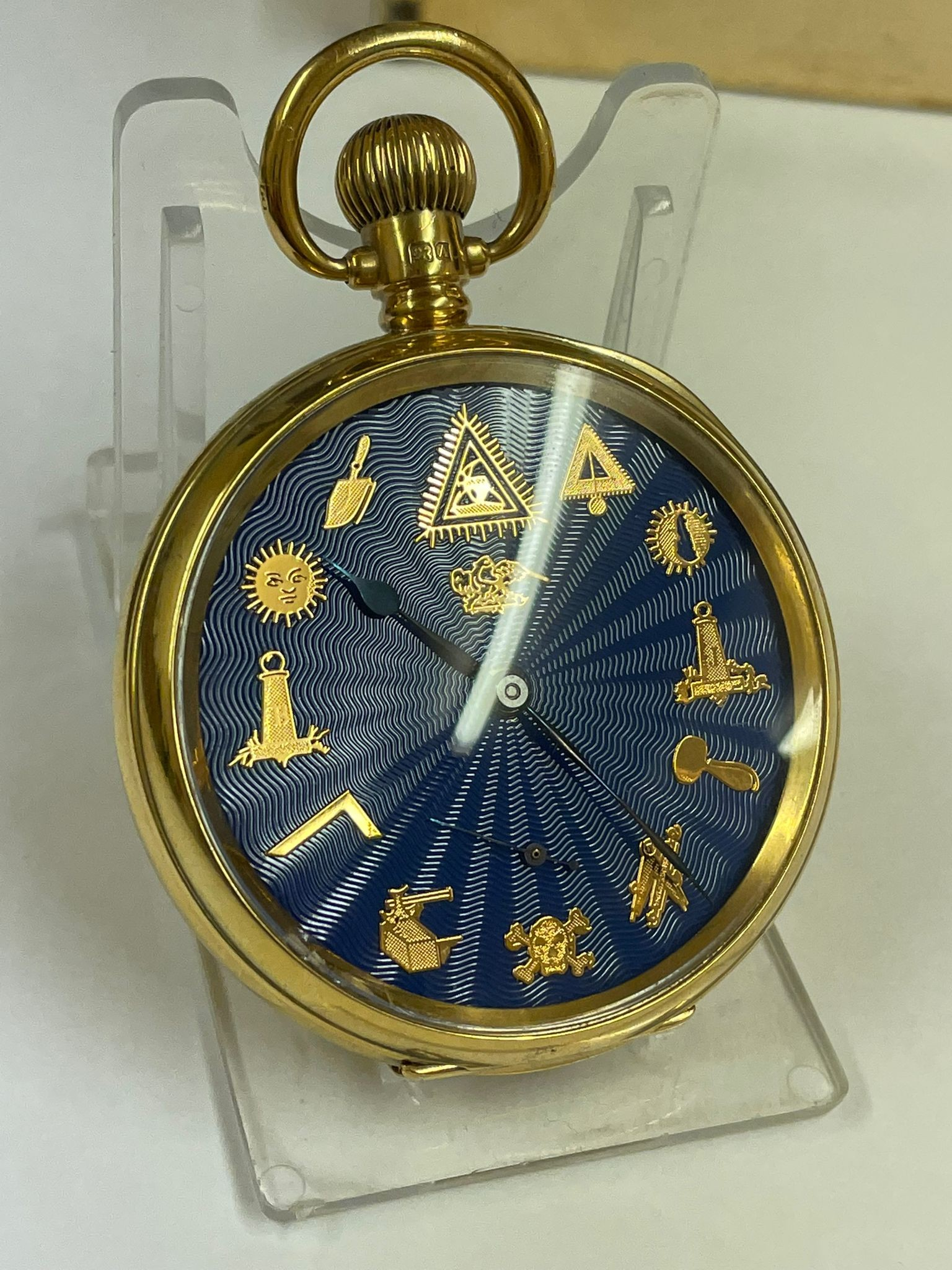 Vintage Masonic Rolex pocket watch with stand good condition and good working order but no - Image 14 of 21