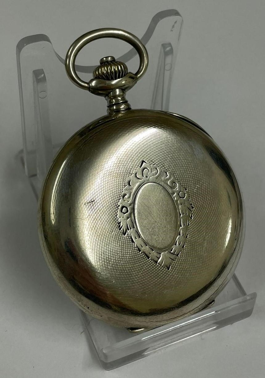 Vintage Silver Chronograph Pocket Watch. Working & Stop Function are working but sold with no - Image 3 of 6