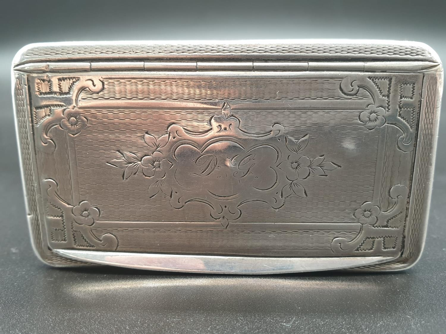 Antique French Gilt Solid Silver 1880s Snuff Box. 7.8cm x 4.5. 54.5g - Image 3 of 9