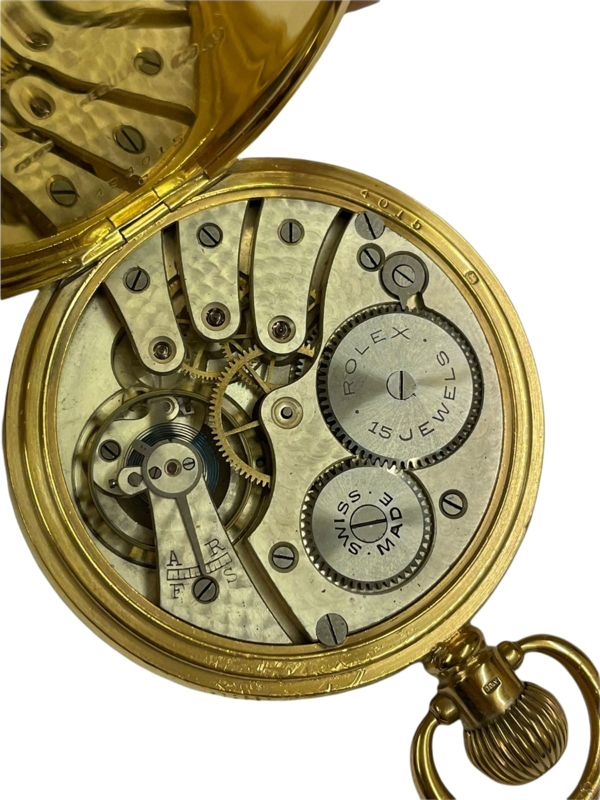 Vintage Masonic Rolex pocket watch with stand good condition and good working order but no - Image 8 of 21