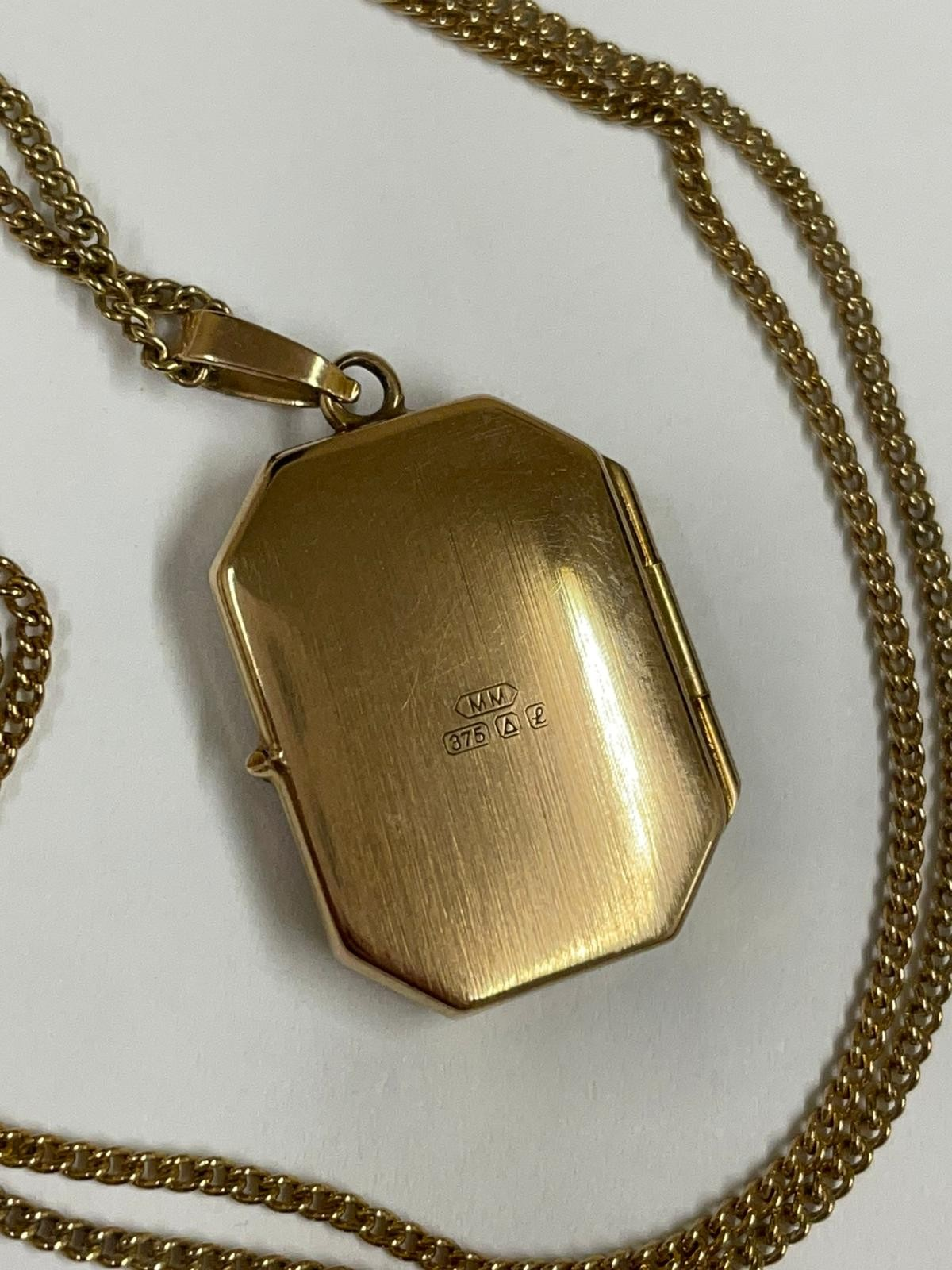 Vintage Clogau 9k yellow gold chain and locket , fully hallmarked. - Image 10 of 10