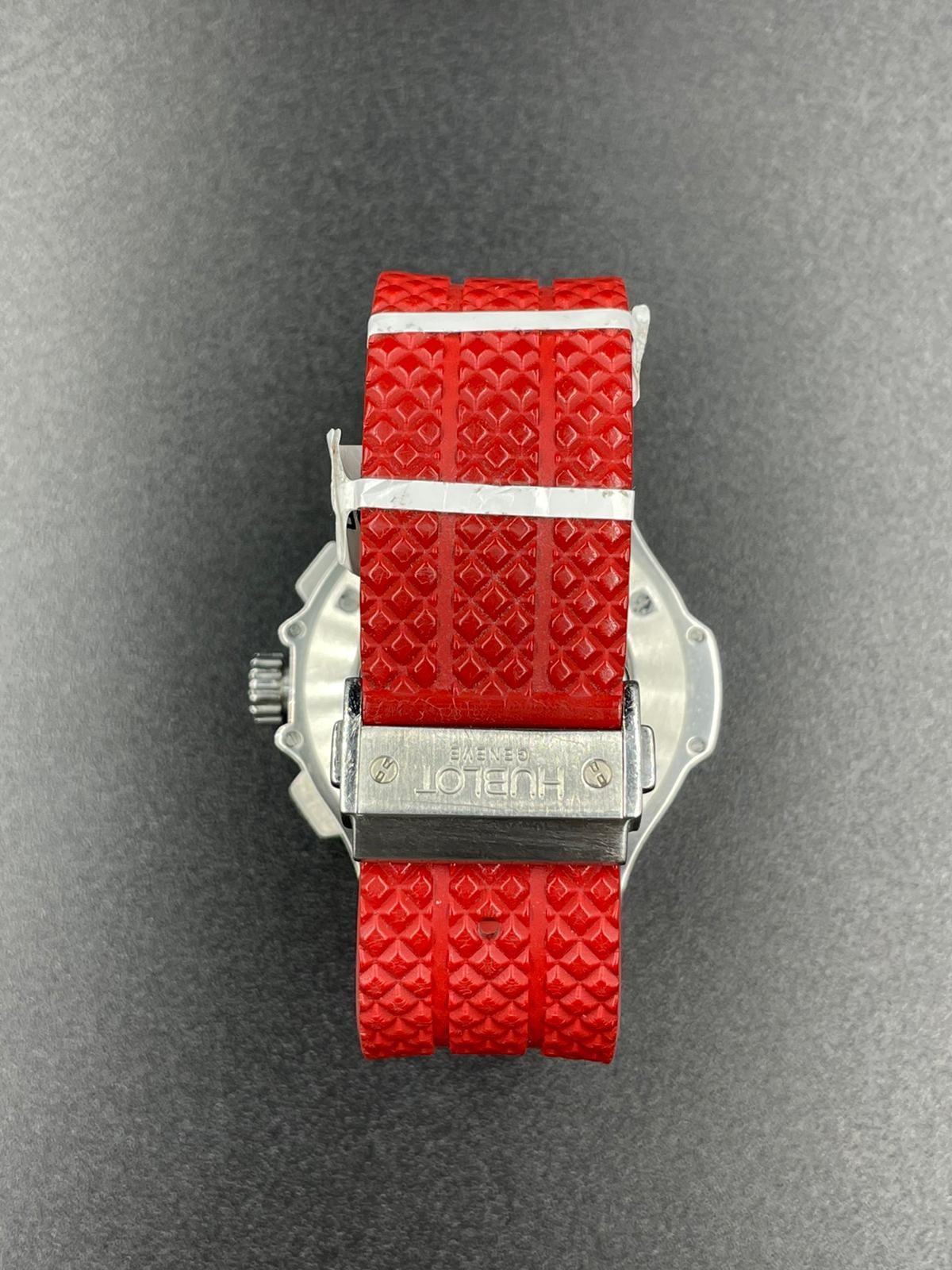 Hublot Big Bang chronometer watch with black face and original diamond dial - Image 5 of 5