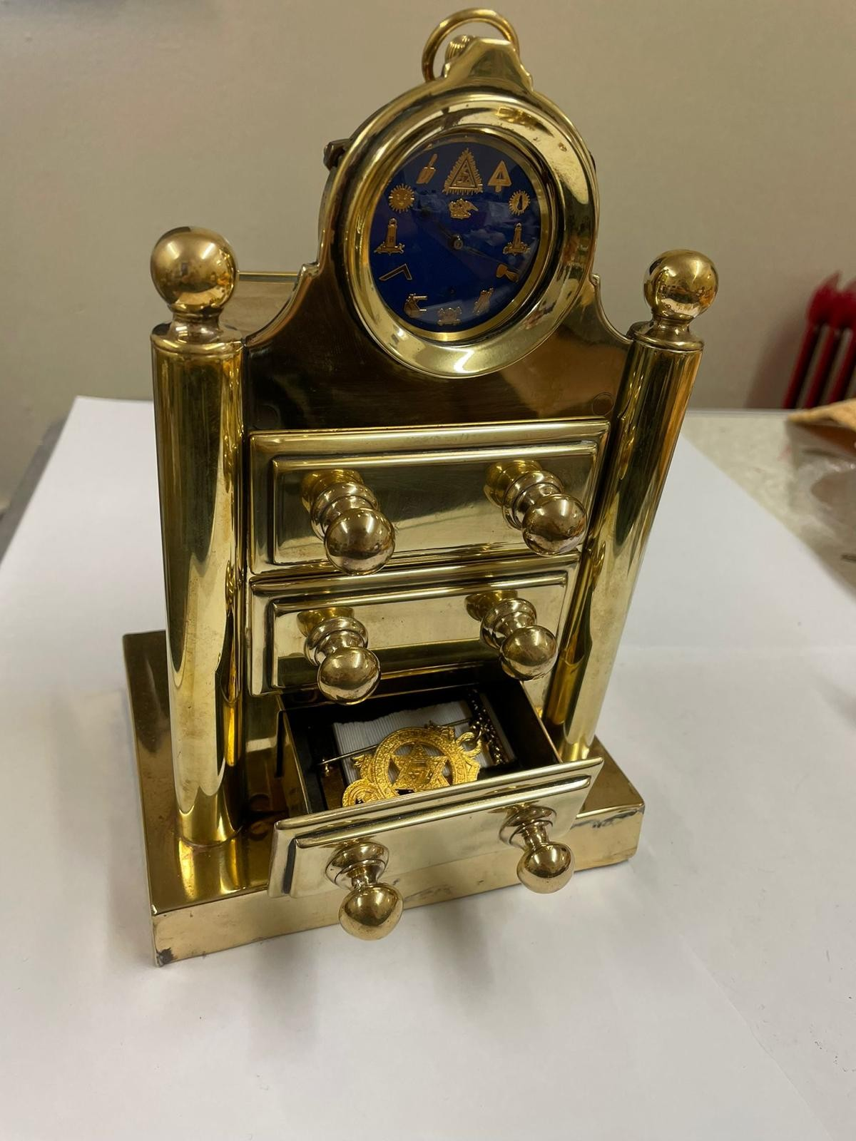 Vintage Masonic Rolex pocket watch with stand good condition and good working order but no - Image 19 of 21