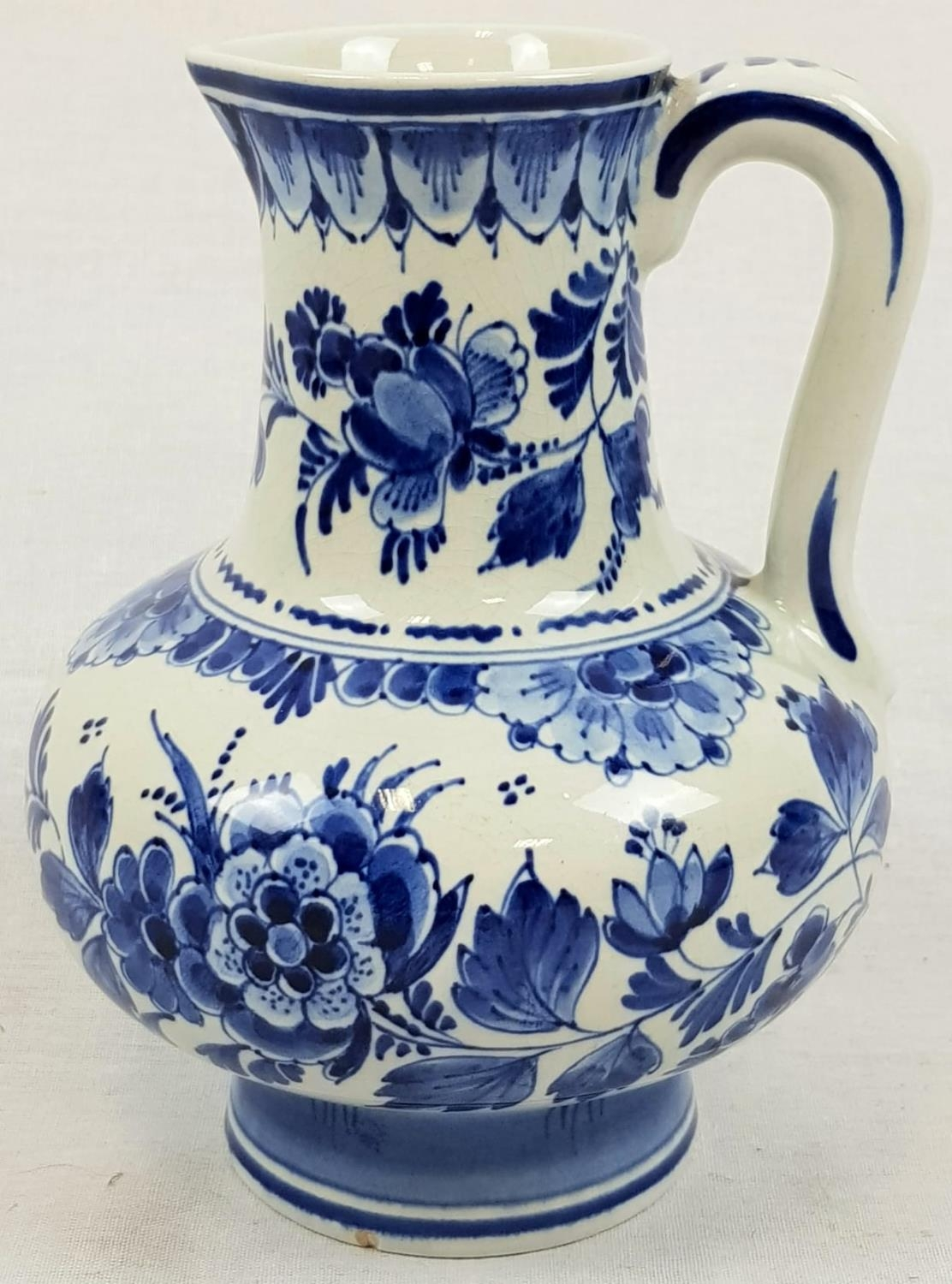 Vintage Delft Blue and White Water Jug. Signed on Base. Good Condition. 18cm tall.
