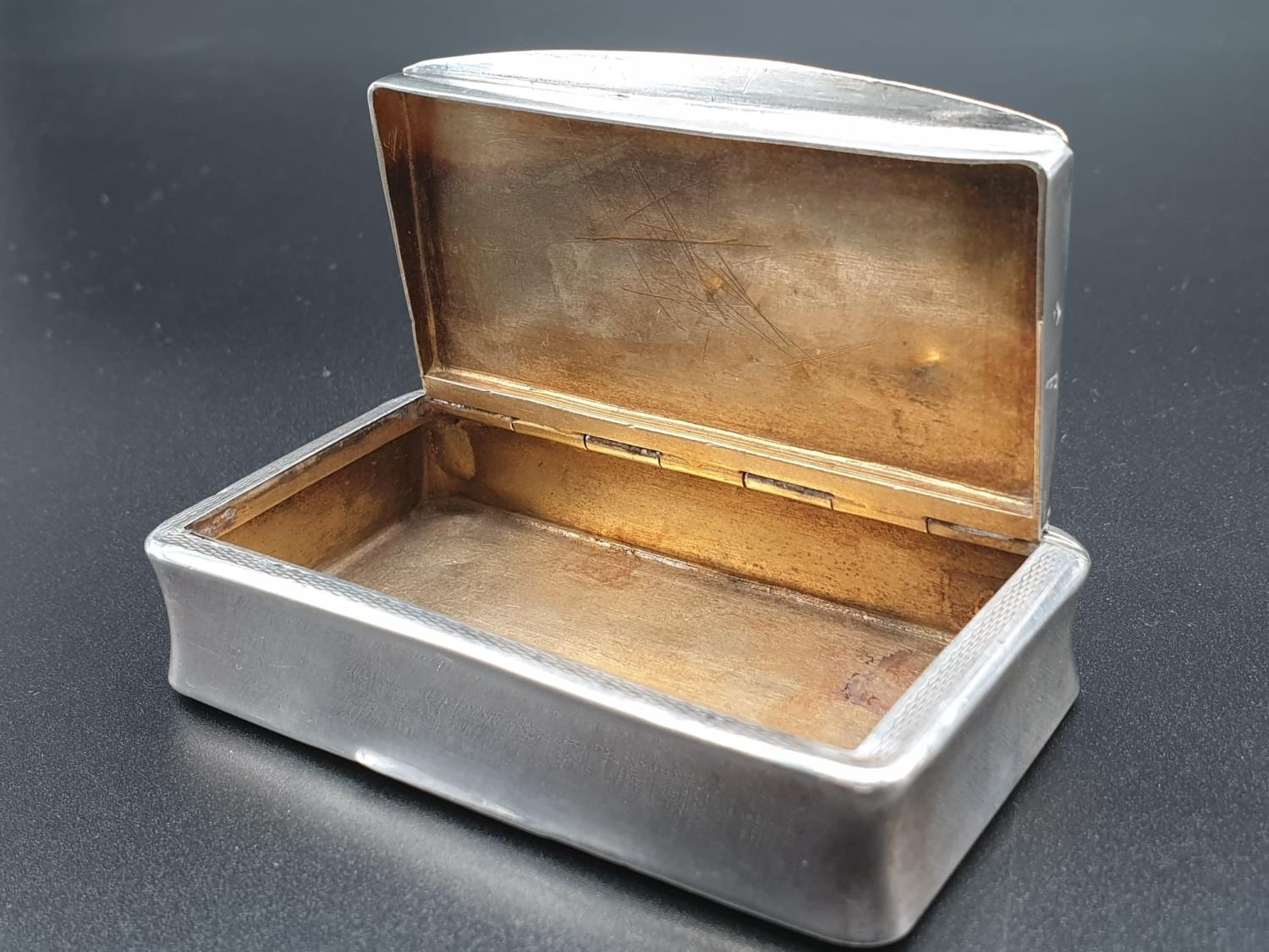 Antique French Gilt Solid Silver 1880s Snuff Box. 7.8cm x 4.5. 54.5g - Image 5 of 9