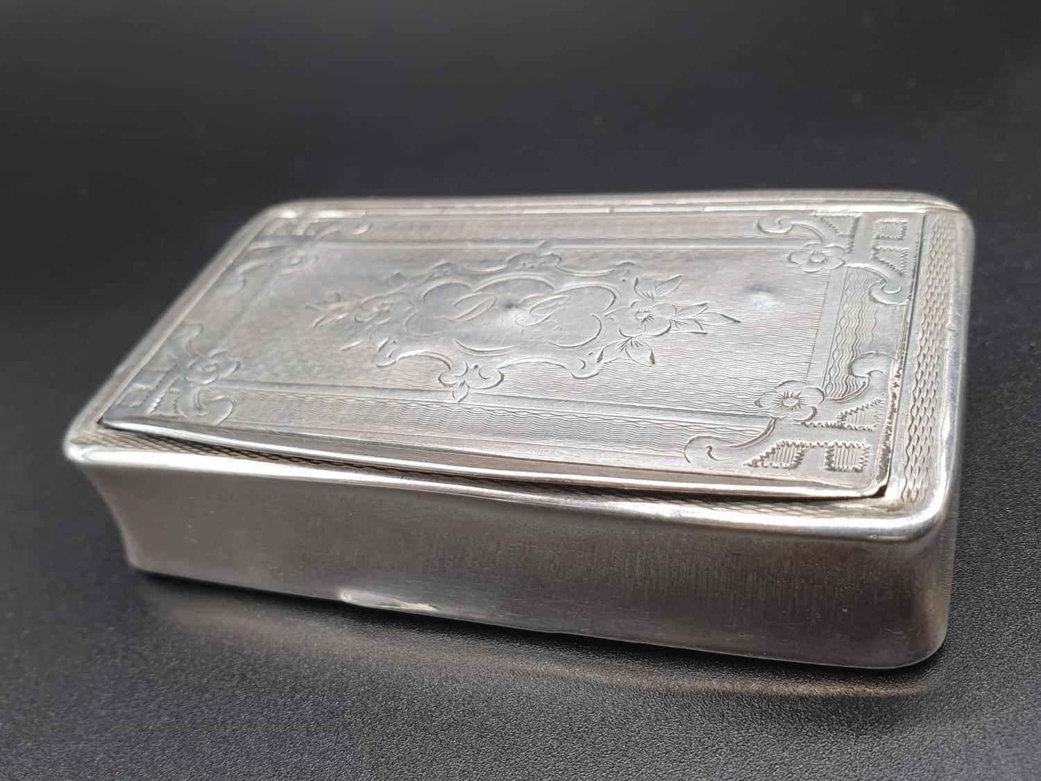Antique French Gilt Solid Silver 1880s Snuff Box. 7.8cm x 4.5. 54.5g - Image 2 of 9