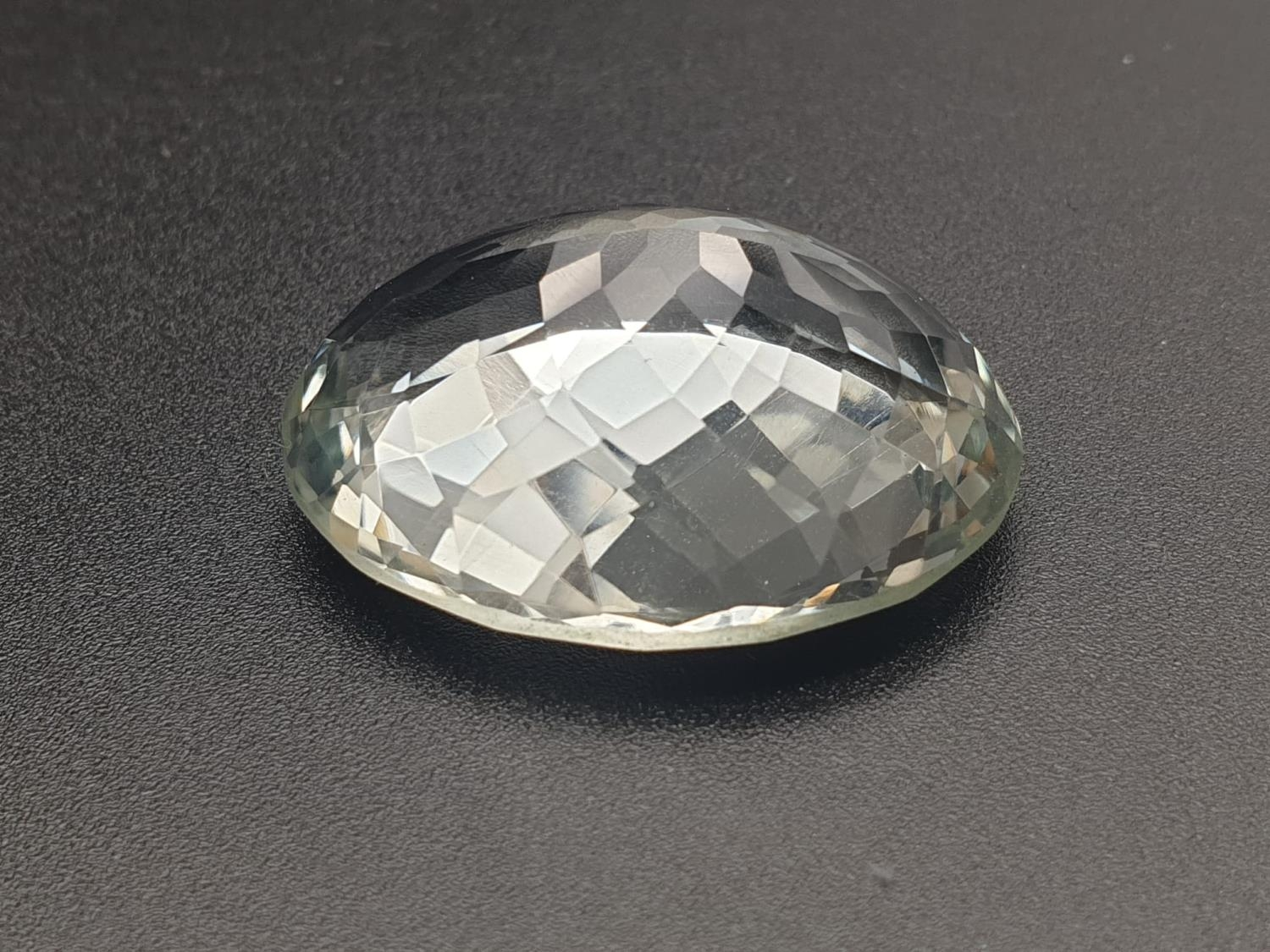 45.39 Cts Praseolite Gemstone. Oval shape. ITLGR certified - Image 2 of 4