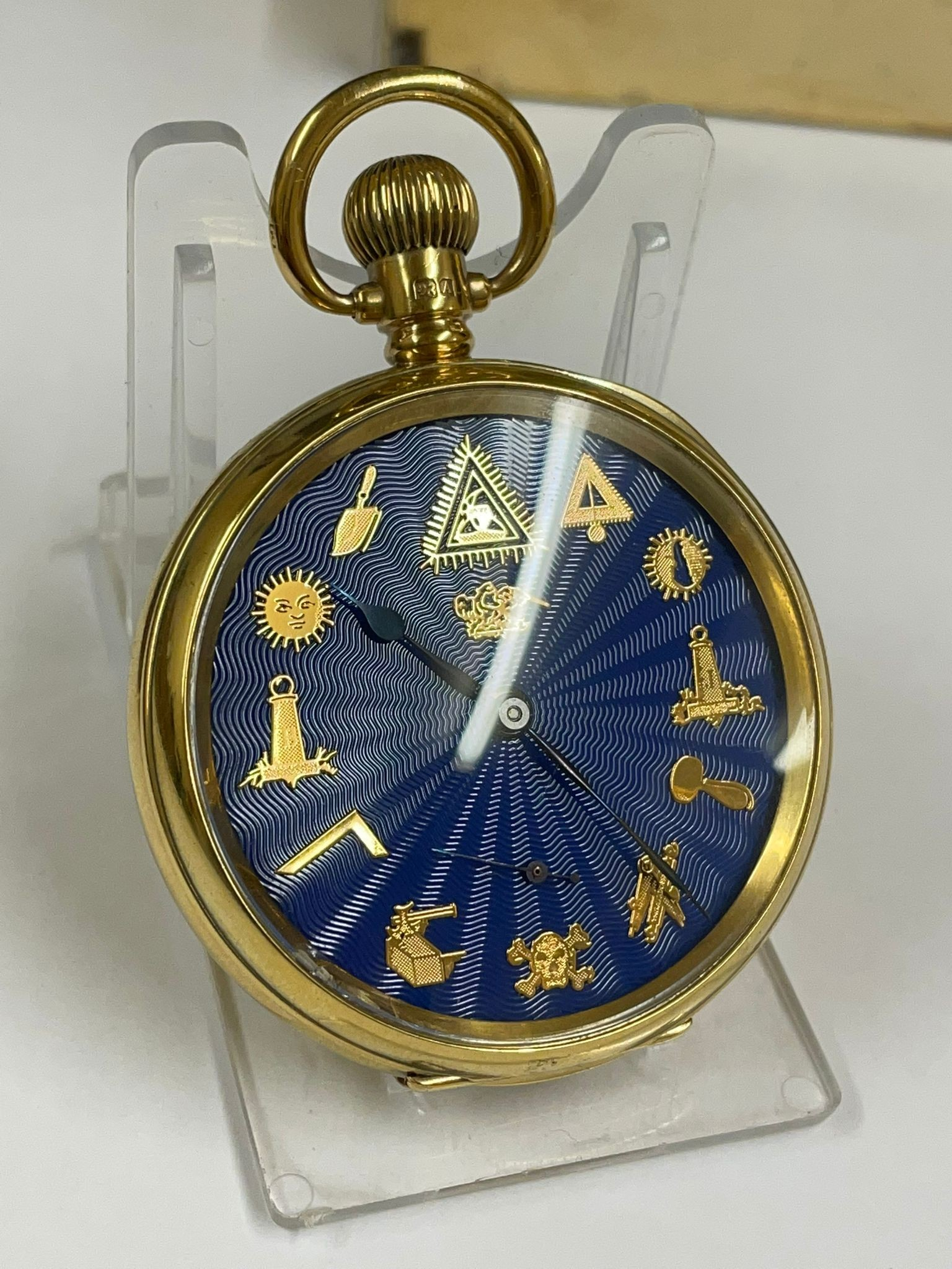 Vintage Masonic Rolex pocket watch with stand good condition and good working order but no - Image 21 of 21