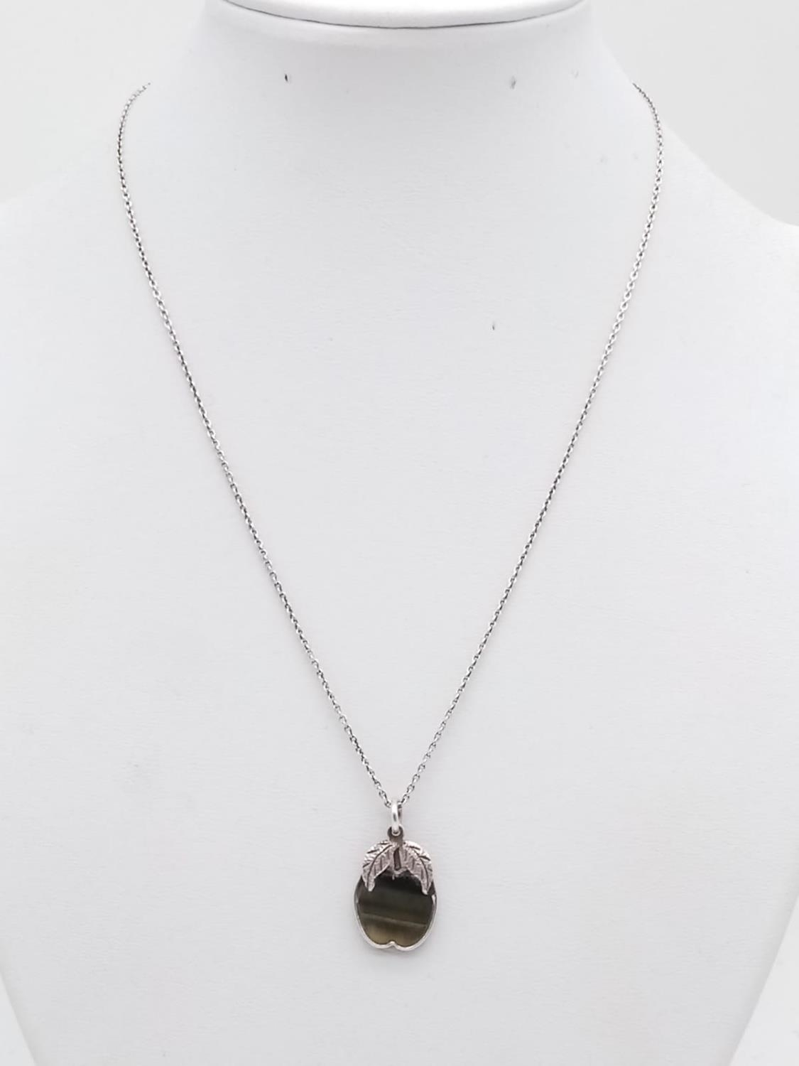 Vintage sterling silver apple pendant necklace in box - Image 3 of 7